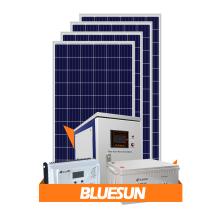 Sistema de energía solar solar Bluesun 5kw sistema de montaje solar
