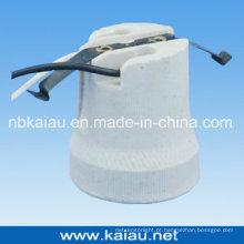 Suporte de lâmpada de porcelana E27F519W