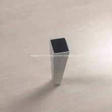 Tube de tuyau d'extrusion en aluminium carré 6063