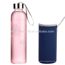 Double Wall Glass Drink Tea Water Bottle With Tea Infuser