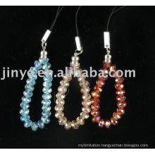 Fashion Crystal Beaded Lanyard, Bling 6mm Galss Crystal Necklace Lanyard