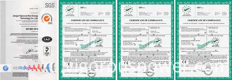 CE & ISO Certificate for Generator