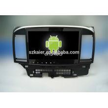¡Cuatro nucleos! Android 4.4 / 5.1 DVD de coche para Lancer con pantalla táctil / GPS / Mirror Link / DVR / TPMS / OBD2 / WIFI / 4G capacitiva