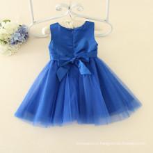 OEM доступный moq синий 100шт для девочек 3-12 лет проживает школьную вечеринку платья темно-синий цвет платья гарантию Торговля оптовая вышивкой