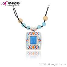 43015 Fashion Special Big Rhinestone Rhodium Jewelry Pendant Necklace