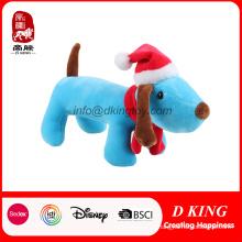 Juguete promocional felpa de felpa de peluche para regalo promocional de Navidad en sombrero de Navidad