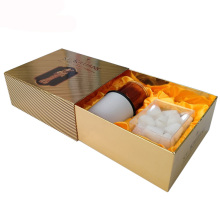 Sliding Gold paper candle gift box for candle