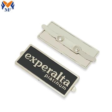 Etiqueta colgante con logo metal para bolso