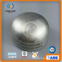 Wp304/304L Stainless Steel Cap Steel Pipe Fitting with Dnv (KT0030)