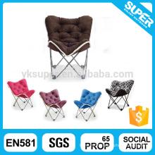 Beautiful metal frame folding butterfly chair