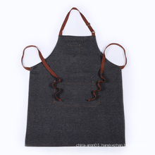 black denim apron braid with side pockets suitable for adults