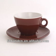 KC-03002high quality exported coffe cup with saucer,simple tea cup