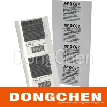 Printed Serial Number Void Tamper Evident Label (DC-LAB024)