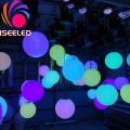 Treuils LED sculpture de boule cinétique pixel