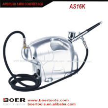 Airbrush Mini Kompressor Kit Elephane Modell Mini-Nagel-Malerei-Kompressor