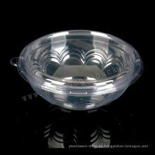 Caja de ensalada de plástico transparente desechable redonda de 460 ml de categoría alimenticia