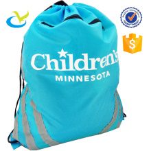 Calico custom sport travel polyester drawstring bag for hot sale