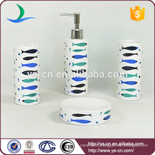 Sea theme ceramic bathroom set ,home decoration accessory bath set