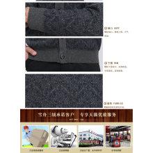 Yak Wolle / Cashmere V-Ausschnitt Strickjacke Langarm Pullover / Kleidung / Garment / Strickwaren