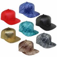 Weave Leather Baseball Caps Multicolor Cross Stripe Fashion Hats