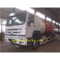 Camiones del tanque de relleno del gas de 24cbm 6x4 LPG