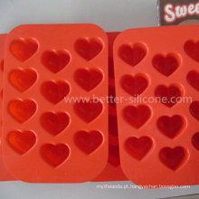 Bandeja padrão do chocolate do silicone da comida