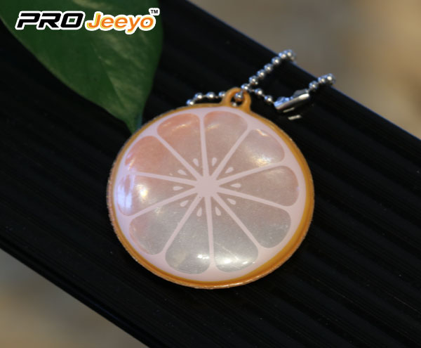 Rreflective Safety Lemon Pvc Keychain Kids Pendant V 105 2