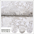 Hecho en China bordado de poliéster floral de malla de tela de tul boda