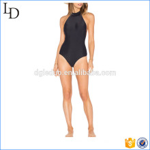 Nylon com lycra misturar belas mulheres negras biquínis monokini swimsuit