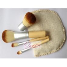 Beauty Cosmetic 4PCS Set de brosse à maquillage en bambou