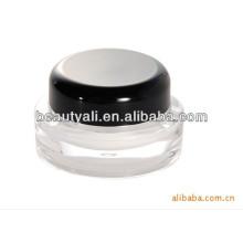 5g 15g 20g 30g 50g 100g 200g Round Cosmetic Black Cap Acrylic Cosmetic Jar Wholesale