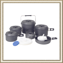 Antiadherente de Picnic o Camping aluminio Cook Set de (CL2C-DT2315-10)