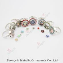 Alloy Round Locket Ring pour cadeau
