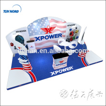 Tension fabric display stand standard exhibition booth exhibition display