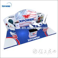 Exposição de exposição de tecido de tensão exibição de exposição de estande de exibição padrão