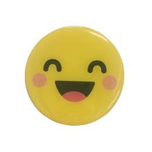 Attractive smiling face 3d dome epoxy fridge magnet