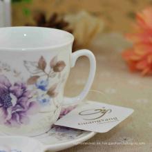 Capacidad diferente disponible de cerámica 12 piezas Taza de cerámica de café y platillo con precio bajo 2016