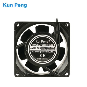 High pressure 80*80*38 compact metal fan