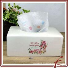 Porte-serviettes en coton en céramique