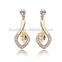 2016 alibaba hanging earrings 18k gold ear earring artificial diamond earrings jewellery