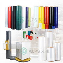 Alps Lldpe Stretch Pallet Wrap Film Roll Biodegradable Hand Use Stretch Film Clear Pe Stretch Film for Shrink Wrap