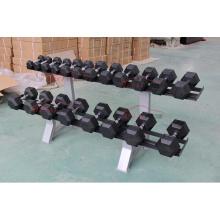 Equipo de gimnasia Juego de pesas de goma hexagonal para Crossfit