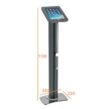 iPad & Tablet Floor Stand Alu Pillar Lockable & Charging Cable (PAD 001C)