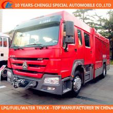 Caminhão de bombeiros de duas finalidades da água da espuma 4X2 para a venda