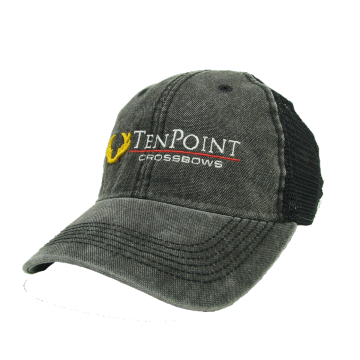 TENPOINT - BLACK EMBROIDERED HAT