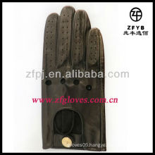 2013 leather made short gloves for driver