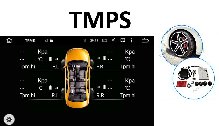 TPMS android car dvd AURIS 2006