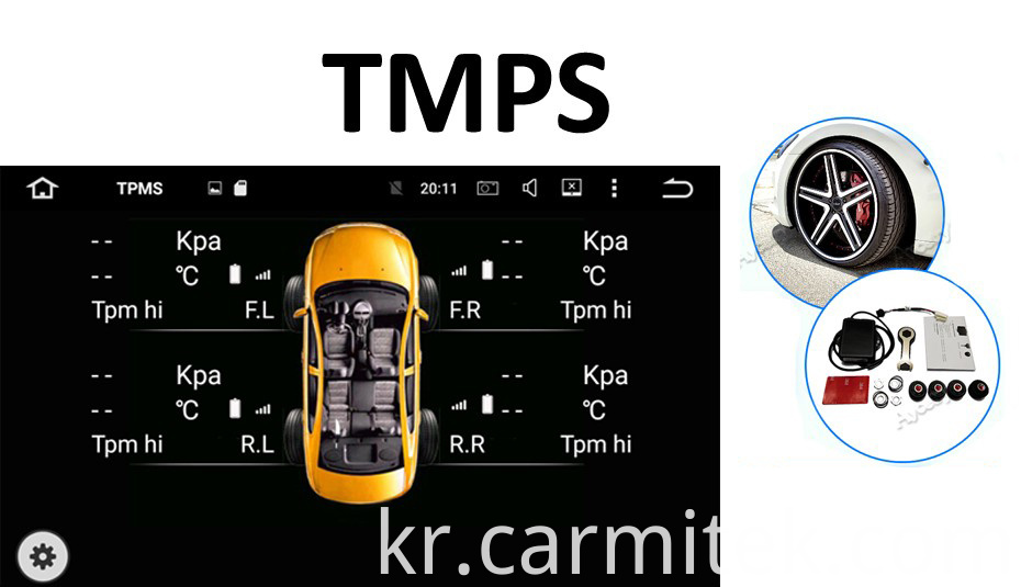 TPMS android car dvd corolla 2006