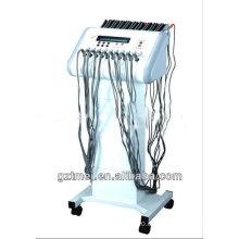 2 en 1 onda rusa estimulación eléctrica muscular y cuerpo infrarrojo lejano adelgazamiento de la máquina