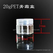 20ml Pet Clear Crayon Cosmétiques avec PP Cache / Bocal Plastique / Biberon / Bocal Candy